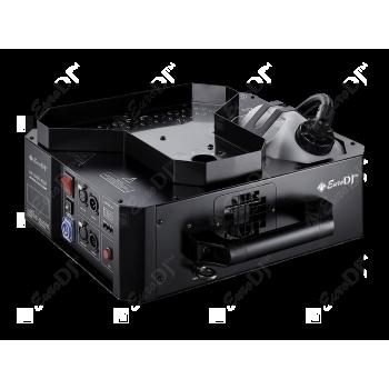 VF-1500 RGB Генератор дыма, вертикальный - EURO DJ