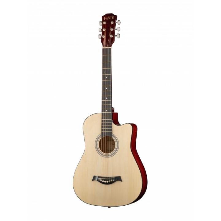 FT-D38-N Акустическая гитара, с вырезом, цвет натуральный - Fante