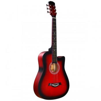 FT-D38-RDS Акустическая гитара, с вырезом, красный санберст - Fante
