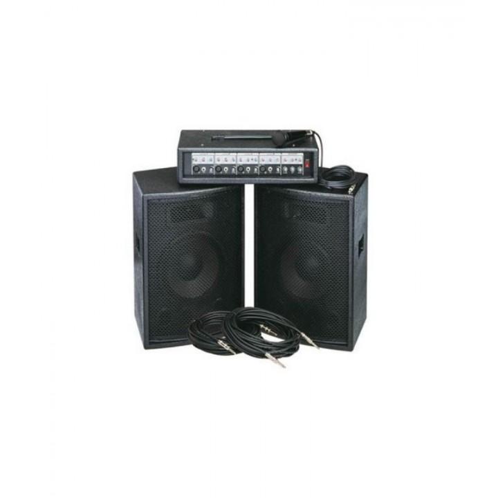 ZH0602D12LS Комплект акустической системы - Soundking  2х200Вт (микшер, микрофон, кабели)
