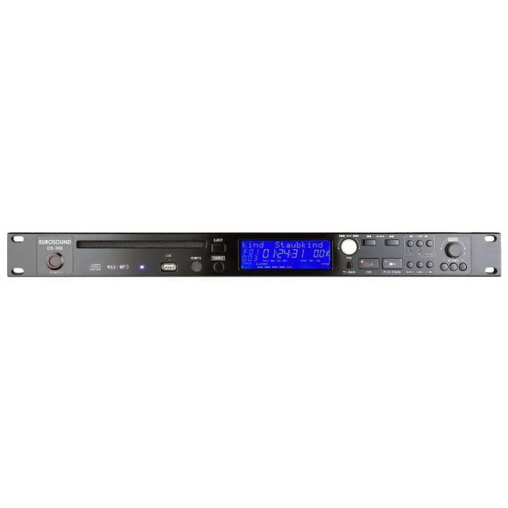 Проигрыватель рэковый CD/MP3  - EUROSOUND CD-350