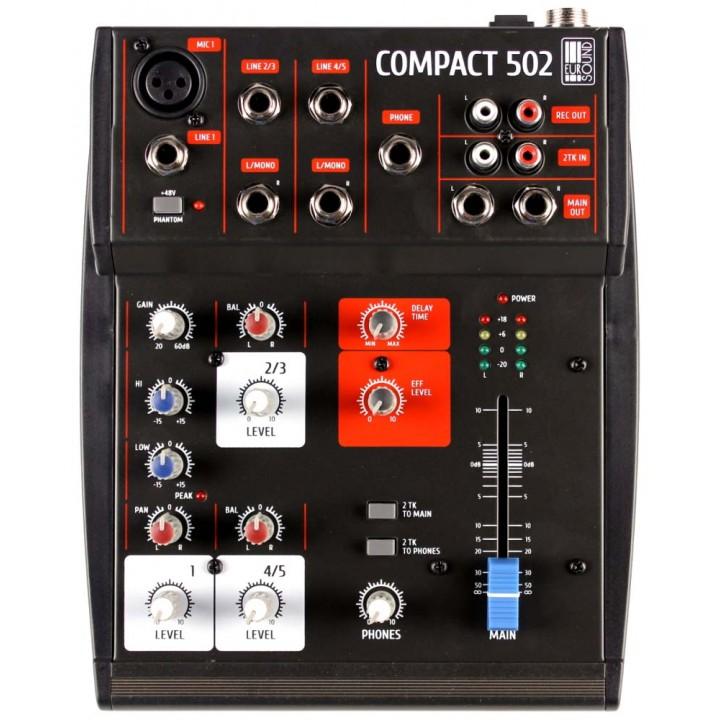 Compact-502 Микшерный пульт -  EUROSOUND