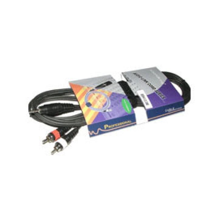 BB413-3M Кабель акустический мини-джек 3,5мм — 2хRCA Soundking (3м)