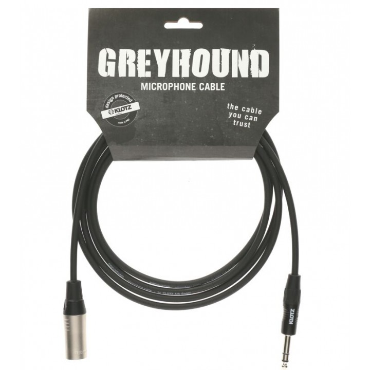 GRG1MP06.0 Greyhound Кабель микрофонный XLRm-6.35мм, 6м - Klotz