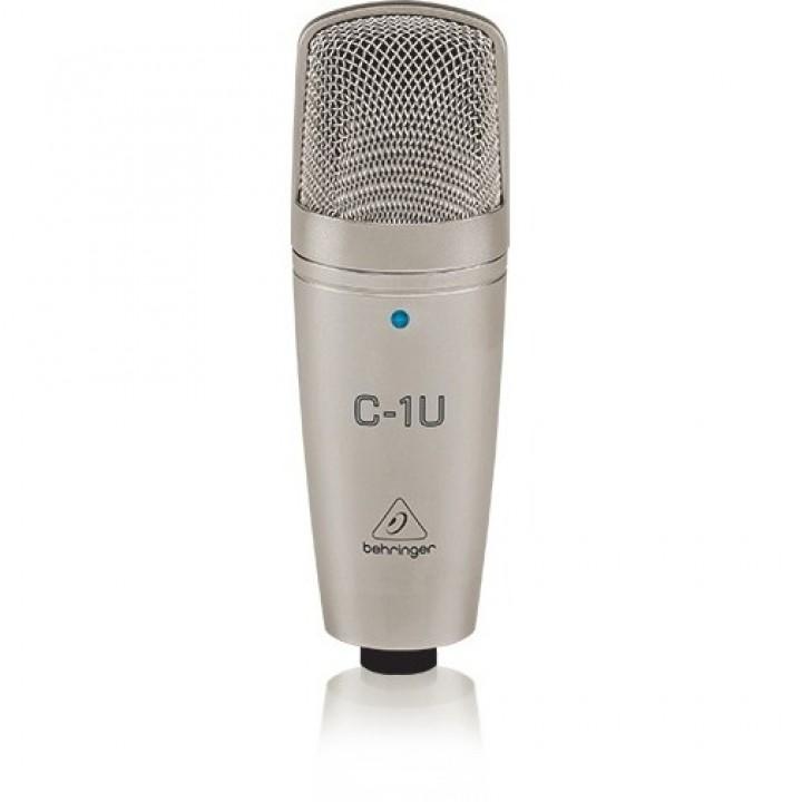 C-1U Конденсаторный микрофон со встроенным USB аудиоинтерфейсом - BEHRINGER