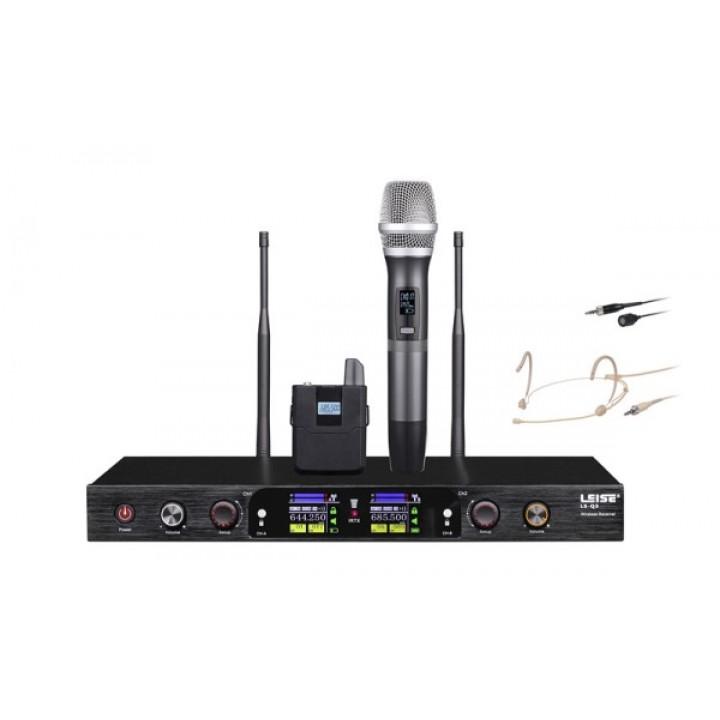 LS-Q3-MH Радиосистема с ручным и головным передатчиком - LAudio