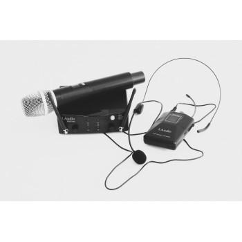 PRO2-MH Двухканальная радиосистема с ручным передатчиком и головным микрофоном - LAudio