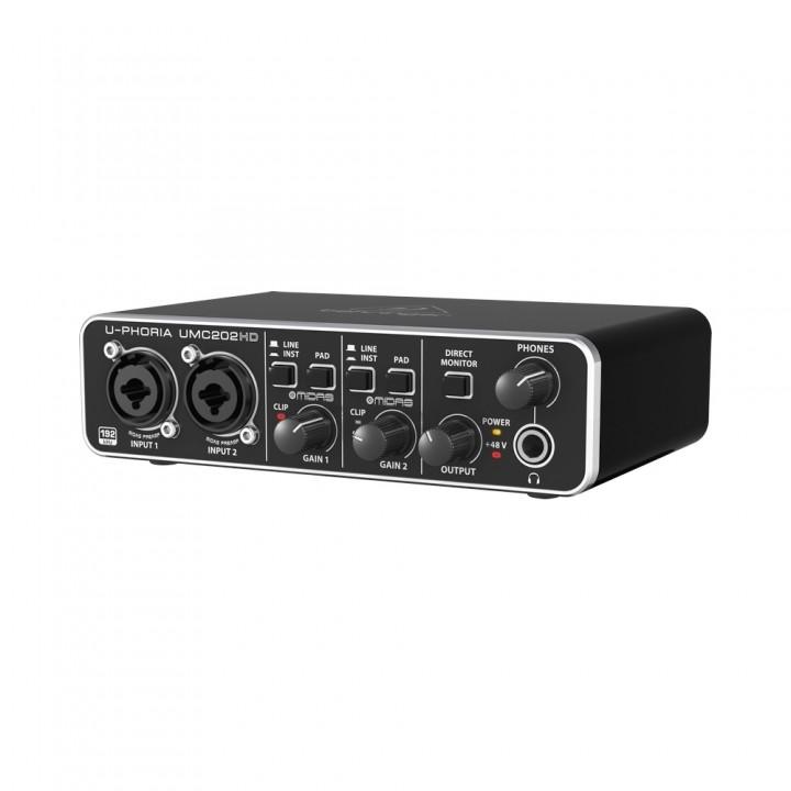 UMC202HD Аудиоинтерфейс USB, 2входа, 2 выхода - BEHRINGER