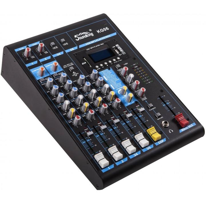KG06 Микшерный пульт с цифровыми эффектами - Soundking