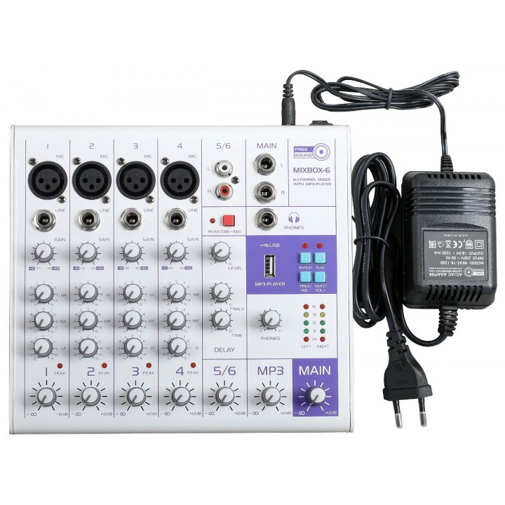 MIXBOX-6 Микшерный пульт - FREE SOUND