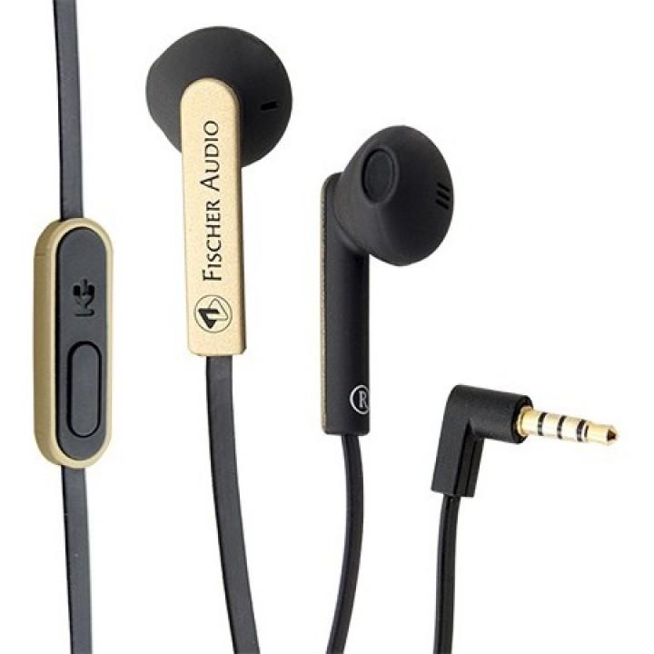 FE-155-RC-Gold Наушники внутриканальные, с микрофоном, черный/золото - Fischer Audio