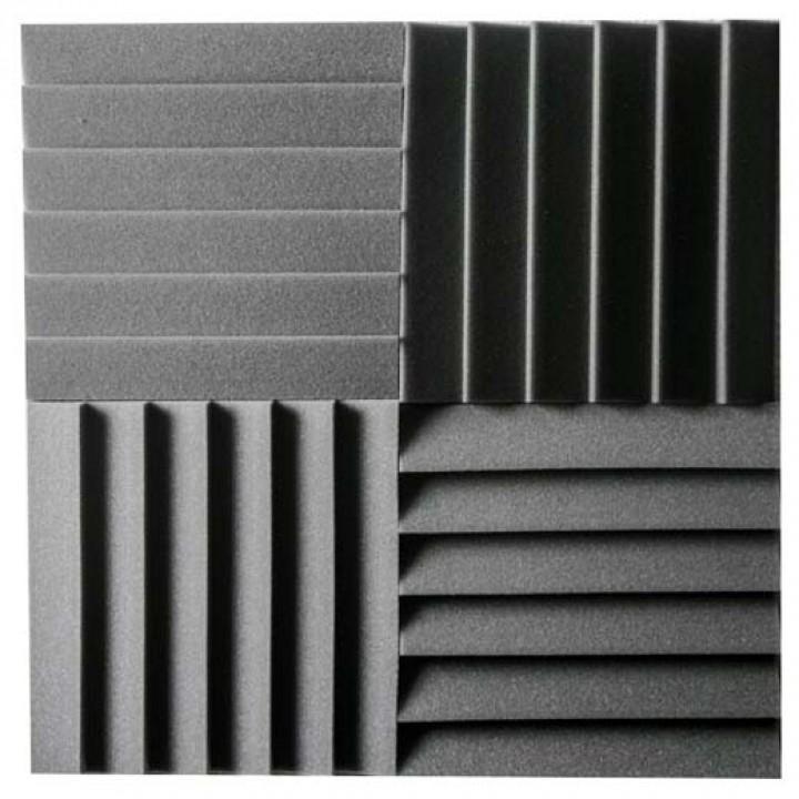 АП12 Панель поролон Blind 300х300х50 (4шт в уп), черный - АТЕХ
