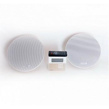 LAMX210S Комплект из 2 потолочных громкоговорителей и настенного усилителя - LAudio