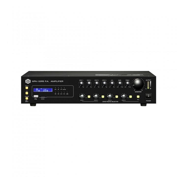 MPA-120RS Усилитель мощности для систем трансляции и оповещения - SHOW (4 зоны)