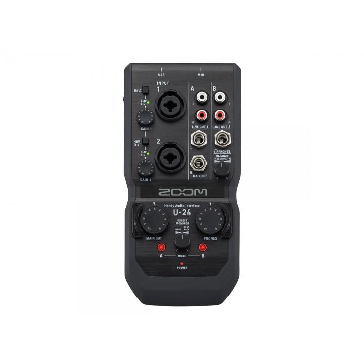 Zoom U-24 - ручной аудиоинтерфейс, 2 входа, 4 выхода