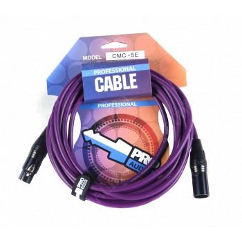 CMC-5E Микрофонный кабель XLR-мама - XLR-папа, длина 5 м - PROAUDIO