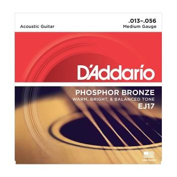 EJ17 Струны для акустической гитары - D'ADDARIO