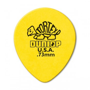 413R.73 Tortex Teardrop Медиаторы 72шт, капля, толщина 0,73мм - Dunlop