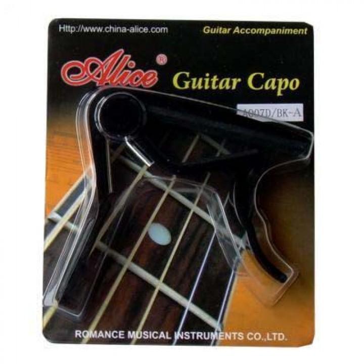 A007D/BK-C Каподастр для классической гитары - Alice