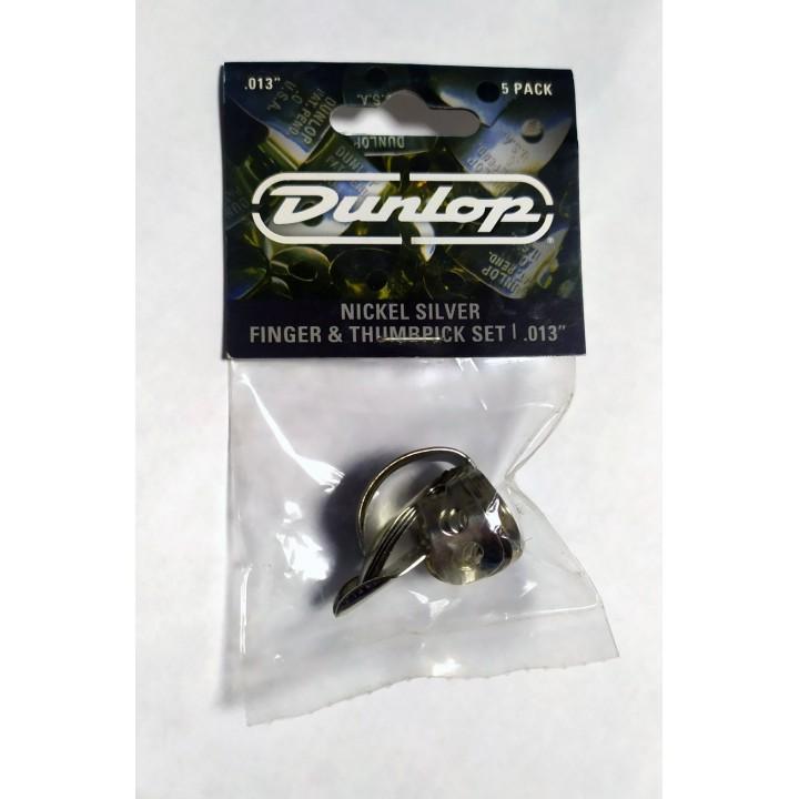 33P.013 Nickel Silver Медиаторы на палец 5шт, нейзильбер, толщина .013 - Dunlop