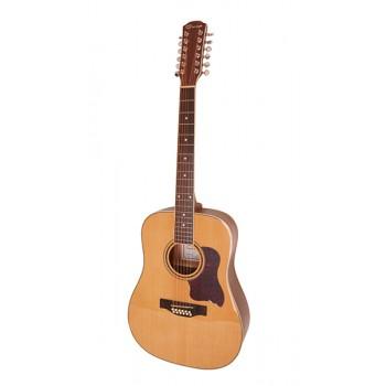 F66012 Акустическая гитара 12-струнная, цвет натуральный - Caraya