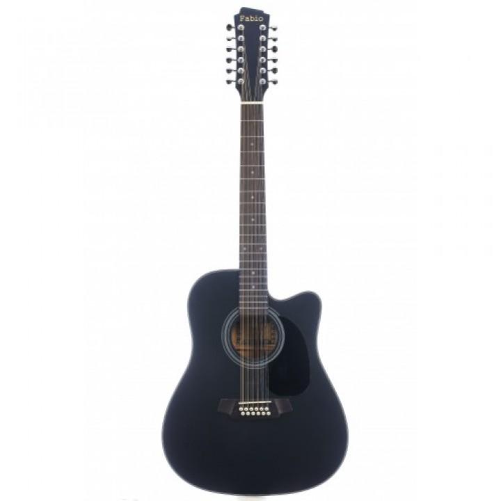 FB12 4020 BK Акустическая 12-струнная гитара - Fabio