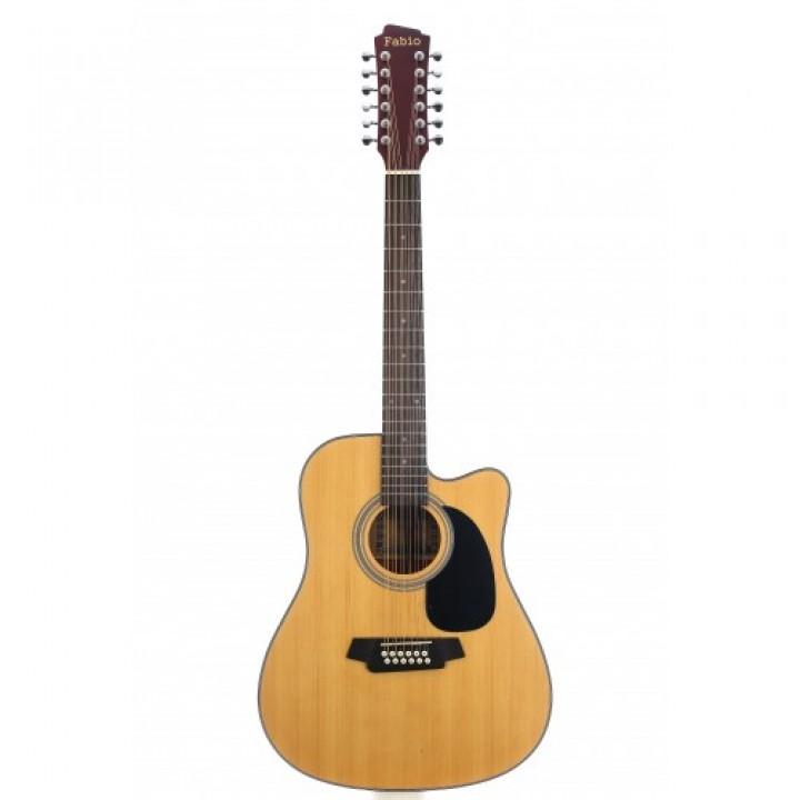 FB12 4020 NL Акустическая 12-струнная  гитара - Fabio