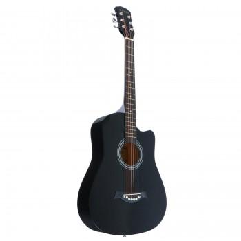 FT-D38-BK Акустическая гитара, с вырезом, черная - Fante