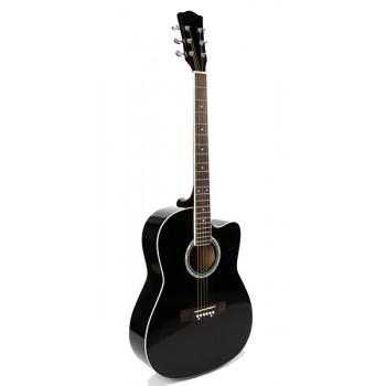 FFG-1039BK Акустическая гитара, черная, с вырезом - Foix
