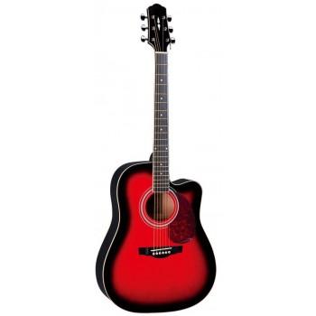 DG120CBS Акустическая гитара с вырезом - Naranda