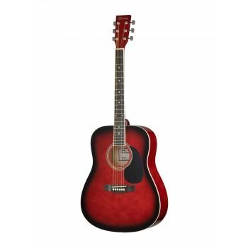 F630-RDS Акустическая гитара, красный санберст - Caraya