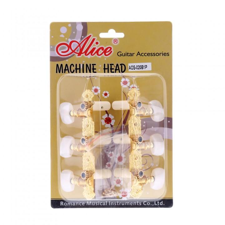 AOS-020B1P Комплект колковой механики со втулкамим для классической гитары - Alice