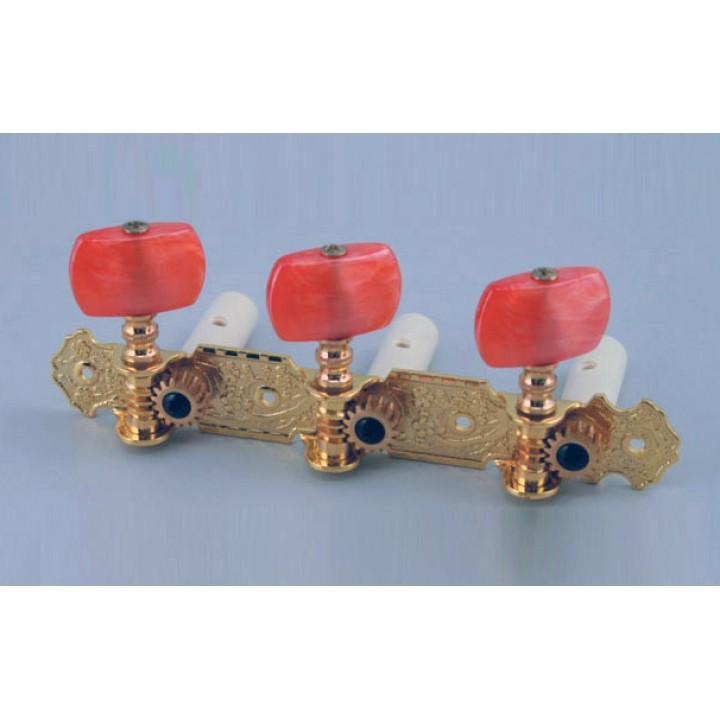 AOS-020B2P Комплект колковой механики на планке, позолоченный - Alice