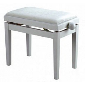 HY-PJ018A-GLOSS-WHITE Банкетка для пианиста, цвет белый - Rin