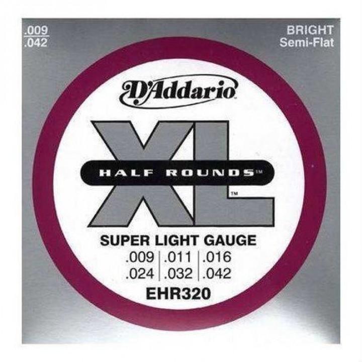 EHR320 Half Round Комплект струн для электрогитары - D'Addario (9-42) Super Light