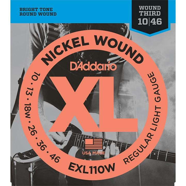 EXL110W XL NICKEL WOUND Струны для электрогитары - D`Addario (10-46)