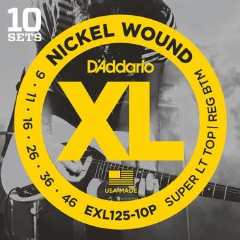EXL125-10P Nickel Wound Струны для электрогитары - D'Addario (9-46)