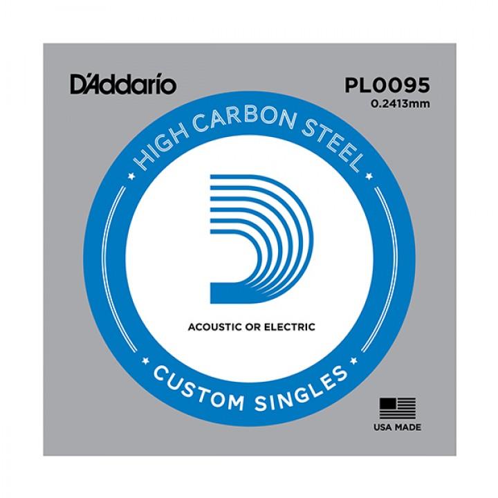 PL0095 Plain Steel Отдельная струна без обмотки, сталь, .0095 - D'Addario