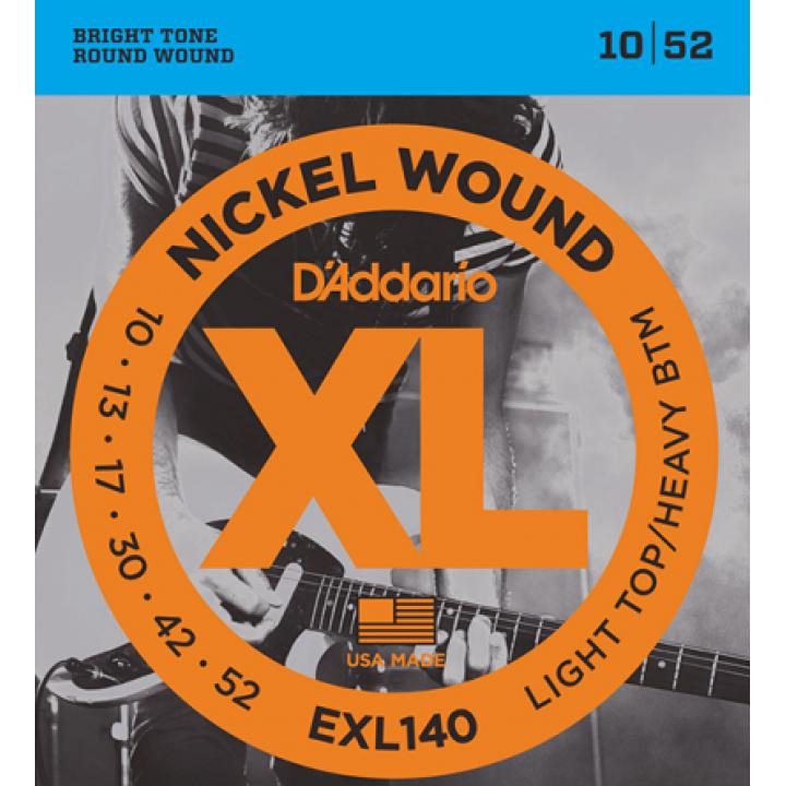 EXL140 XL Струны для электрогитары - D`Addario (10-52)