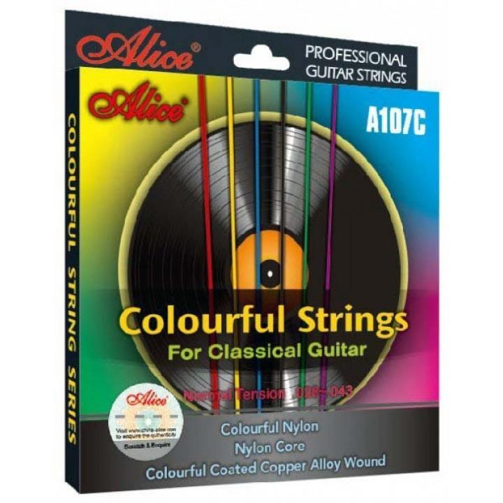 A107С Комплект струн для классической разноцветный нейлон - Alice