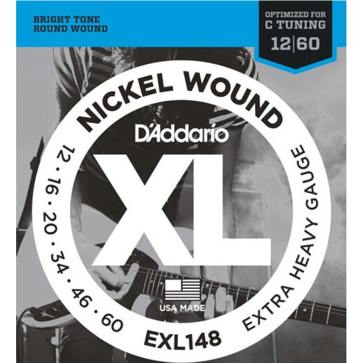 EXL148 XL Струны для электрогитары - D`Addario (12-60)