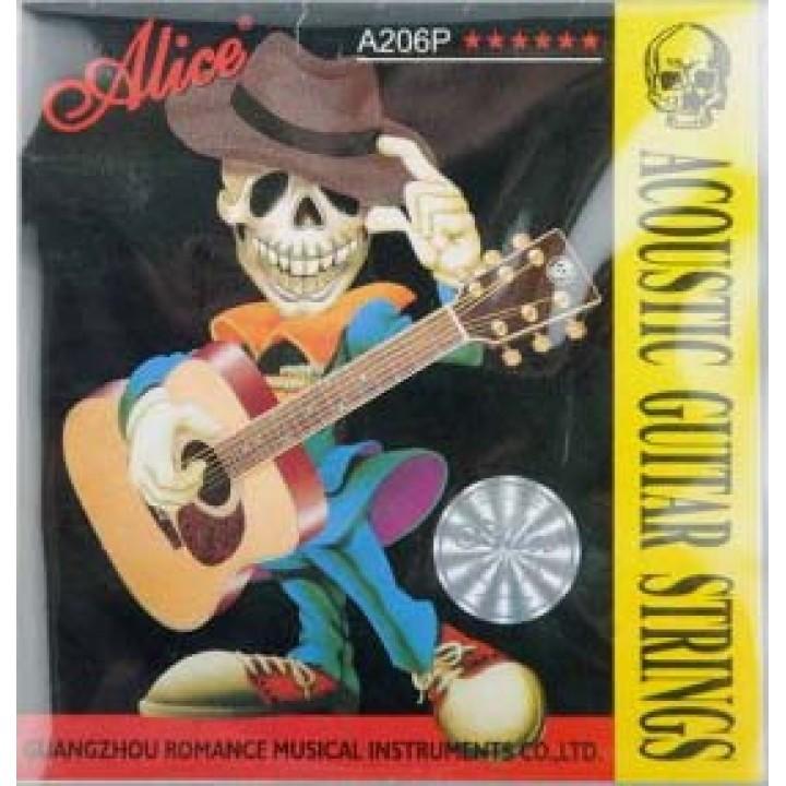 A206P-SL Набор струн для акустической гитары - Alice