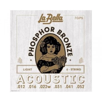 7GPS Комплект струн для акустической гитары - La Bella 12-52