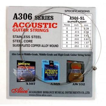 A306-SL-1 Отдельная 1-ая струна для акустической гитары, 011- Alice