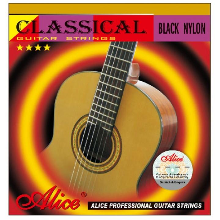 AC105BK-H Комплект струн для классической гитары, сильное натяжение - Alice