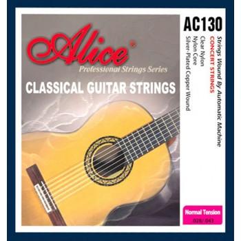 AC130-N Комплект струн для классической гитары, нейлон - Alice