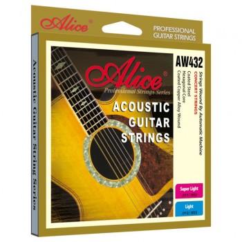 AW432P-SL Комплект струн для акустической гитары, медь11-52 - Alice