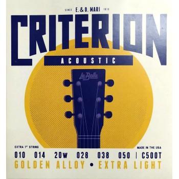 C500T Струны для акустической гитары 010-050 - La Bella