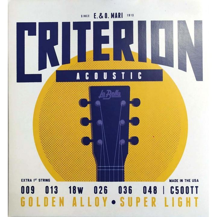C500TT Criterion Комплект струн для акустической гитары 009-048 - La Bella