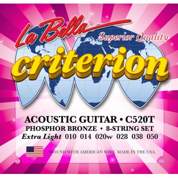 C520T Criterion Комплект струн для акустической гитары 010-050 - La Bella
